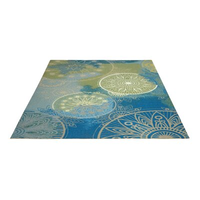 Mamer Blue Indoor/Outdoor Area Rug Rug Size: Rectangle 44 x 63