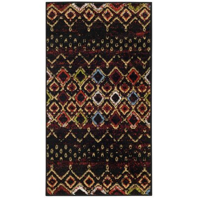 Vadim Black Area Rug Rug Size: Rectangle 23 x 4