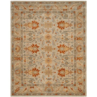 Genemuiden Hand-Tufted Beige Area Rug Rug Size: Rectangle 4 x 6