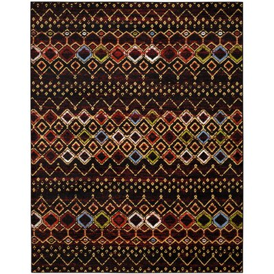 Vadim Black Area Rug Rug Size: Rectangle 10 x 14