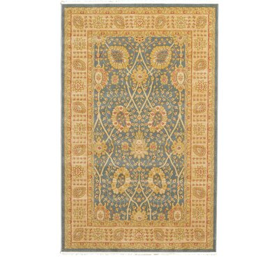 Fonciere Light Blue Area Rug Rug Size: Round 6
