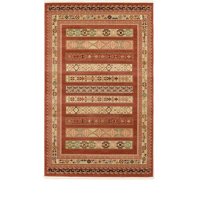 Foret Noire Rust Red Area Rug Rug Size: Rectangle 6 x 9
