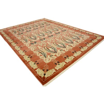 Sebou Rust Red Area Rug Rug Size: Rectangle 9 x 12