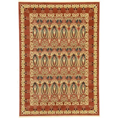 Sebou Rust Red Area Rug Rug Size: Rectangle 7 x 10