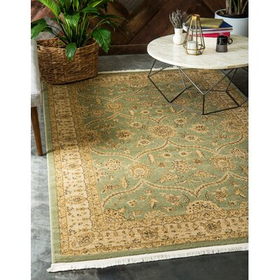 Fonciere Light Green Area Rug Rug Size: Rectangle 9 x 12
