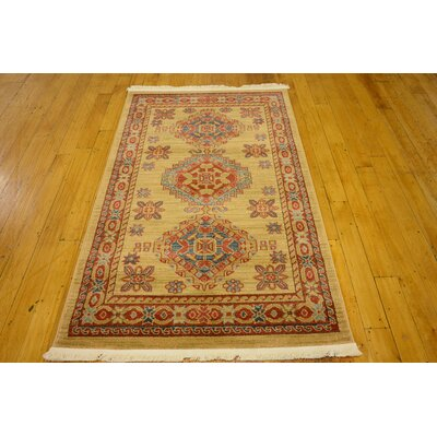Valley Beige Area Rug Rug Size: Rectangle 33 x 53