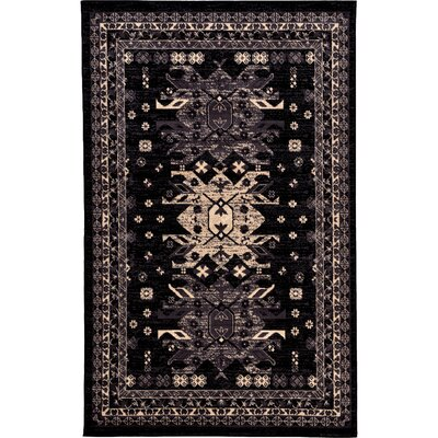 Valley Black Area Rug Rug Size: Rectangle 6' x 9'