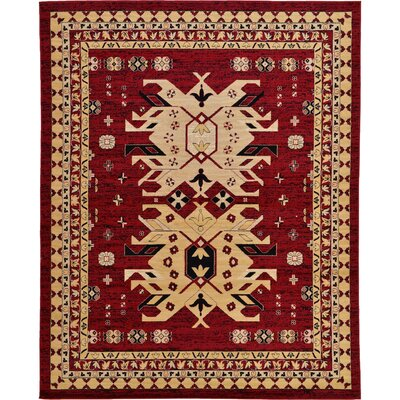 Valley Red Area Rug Rug Size: Round 8