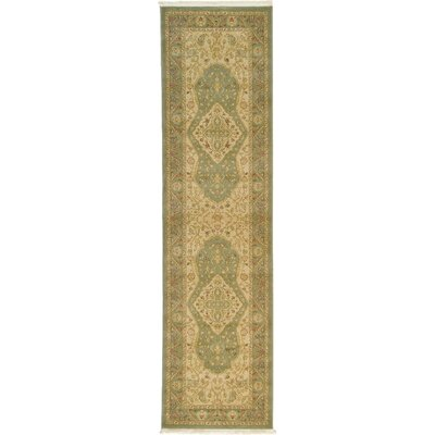 Fonciere Light Green Area Rug Rug Size: Runner 27 x 10
