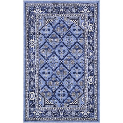 Katiranoma Blue Area Rug Rug Size: Rectangle 6' x 9'