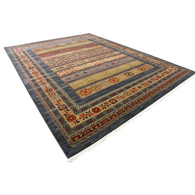 One-of-a-Kind Foret Noire Machine Woven Polypropylene Blue Area Rug Rug Size: Rectangle 8 x 112