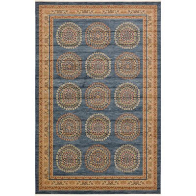Virginia Blue/Brown Area Rug Rug Size: Rectangle 10 x 16