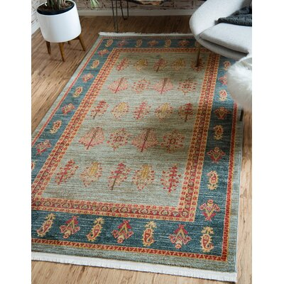 Foret Noire Light Blue Area Rug Rug Size: Runner 27 x 10