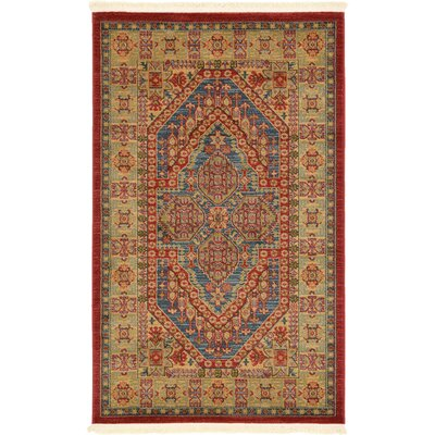 Zoey Red Area Rug Rug Size: Rectangle 5 x 8