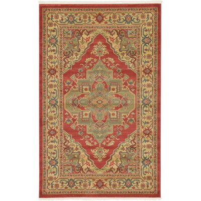 Zoey Red Area Rug Rug Size: Rectangle 33 x 53