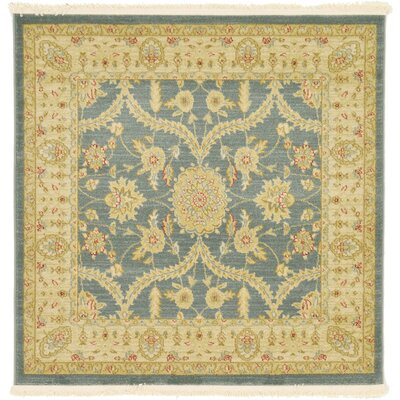 Willow Blue/Beige Area Rug Rug Size: Square 4'