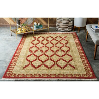 Fonciere Red/Beige Area Rug Rug Size: Rectangle 106 x 165