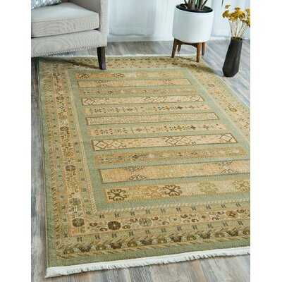 Foret Noire Light Green Area Rug Rug Size: Rectangle 7 x 10