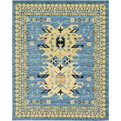 Valley Light Blue Area Rug Rug Size: Round 8
