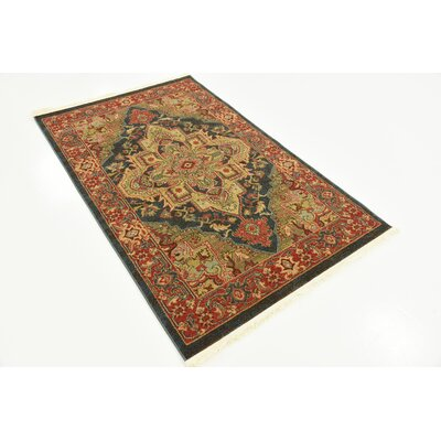 Valley Navy Blue Area Rug Rug Size: Rectangle 3'3