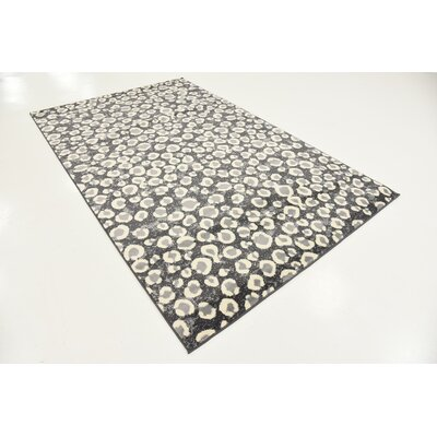 Leif Dark Gray Area Rug Rug Size: Rectangle 5 x 8