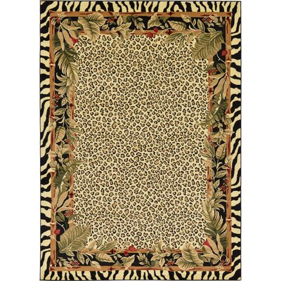 Leif Tan/Olive Area Rug Rug Size: Rectangle 6 x 9