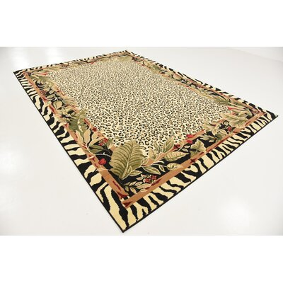 Leif Tan/Olive Area Rug Rug Size: Rectangle 7 x 10