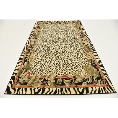 Leif Tan/Olive Area Rug Rug Size: Rectangle 5 x 8