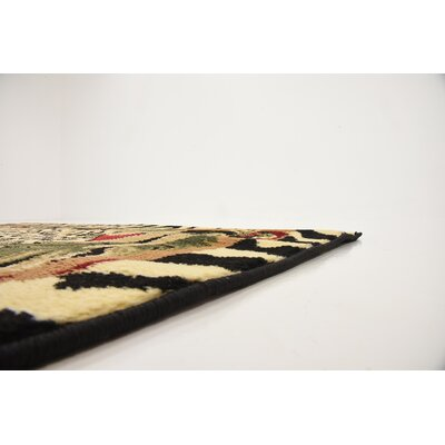 Leif Tan/Olive Area Rug Rug Size: Square 4