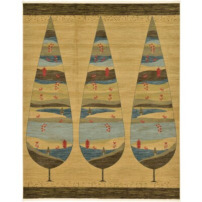 Foret Noire Tan Area Rug Rug Size: Rectangle 8 x 10