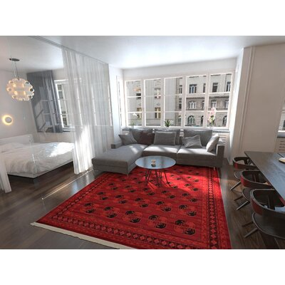Kowloon Red Area Rug Rug Size: Rectangle 7 x 10