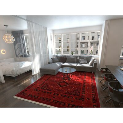 Kowloon Red Area Rug Rug Size: Rectangle 12 x 9