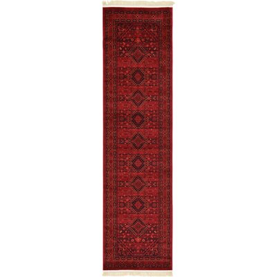 Kowloon Red Area Rug Rug Size: Runner 27 x 10