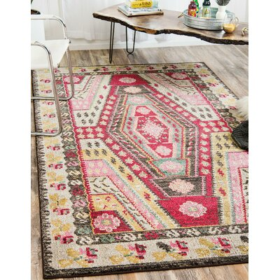 Broadway Brown/Cream Area Rug Rug Size: Rectangle 5 x 8
