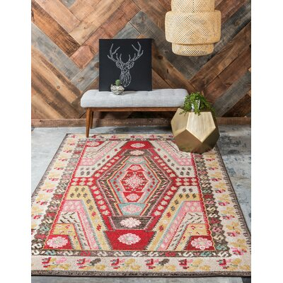 Broadway Brown/Cream Area Rug Rug Size: Rectangle 106 x 165