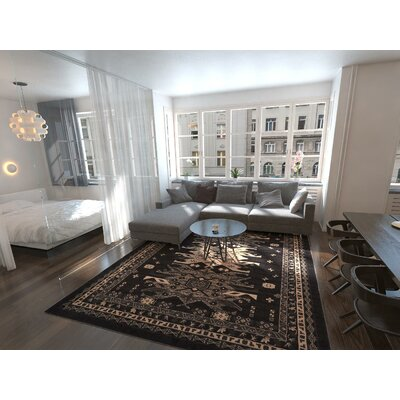 Valley Black Area Rug Rug Size: Rectangle 22 x 3