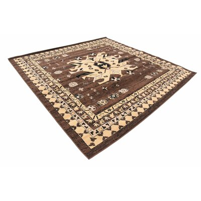 Valley Brown Area Rug Rug Size: Square 8