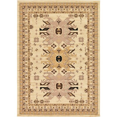 Valley Ivory/Beige Area Rug Rug Size: Rectangle 7 x 10