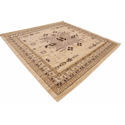 Valley Ivory/Beige Area Rug Rug Size: Square 8