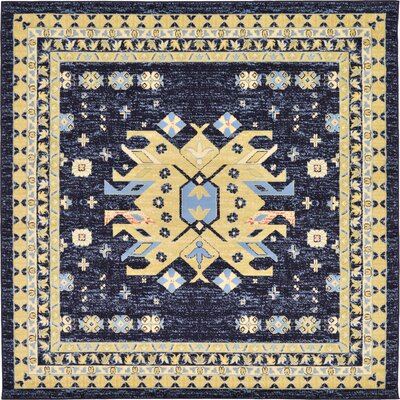 Valley Navy Blue Area Rug Rug Size: Square 8'