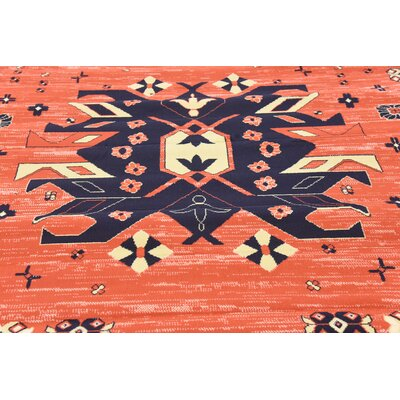 Zoey Red Area Rug Rug Size: Rectangle 8 x 10