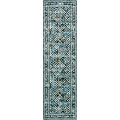 Miara Dark Blue Area Rug Rug Size: Rectangle 3 x 10