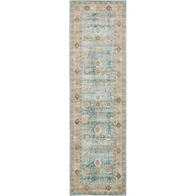 Miara Light Blue Area Rug Rug Size: Rectangle 3 x 10