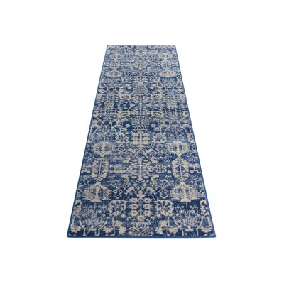 Allenvale Navy Area Rug Rug Size: Runner 23 x 10