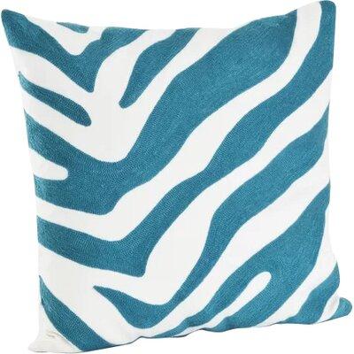 Steele Zebra Cotton Throw Pillow Color: Turquoise