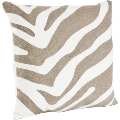 Steele Zebra Cotton Throw Pillow Color: Taupe