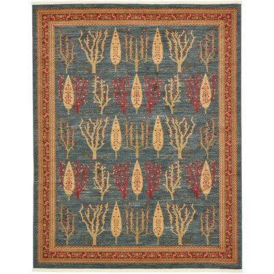 Foret Noire Blue Area Rug Rug Size: Rectangle 8 x 10