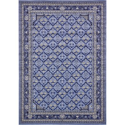 Katiranoma Blue Area Rug Rug Size: Rectangle 8 x 11