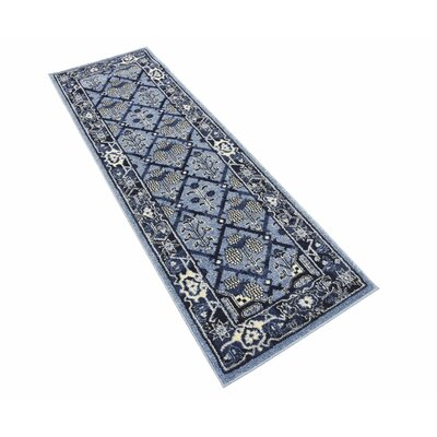 Katiranoma Blue Area Rug Rug Size: Rectangle 2' x 6'