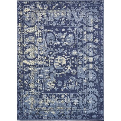 Kelaa Blue Area Rug Rug Size: Rectangle 7 x 10